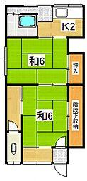 今井荘[8号室号室]の間取り