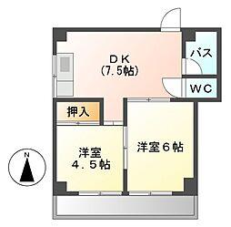 第2加納マンション[4階]の間取り