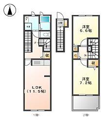 メゾンドゥーズ[2階]の間取り