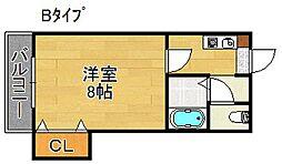 プレイスガーデン帝塚山[8階]の間取り