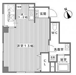 ORG UEMATI(オルグ上町)[3階]の間取り