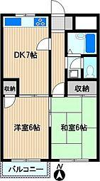 プラザ鹿島田[2階]の間取り