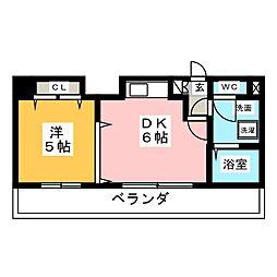 フラット大須[5階]の間取り