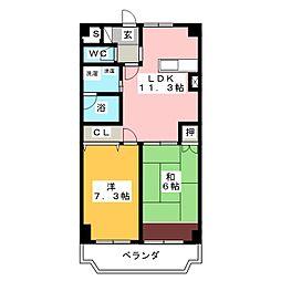 第2西垣マンション[3階]の間取り