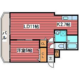 ティアラリヴァーサイド福住[4階]の間取り