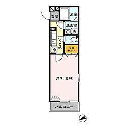 セレニティ横浜[1階]の間取り
