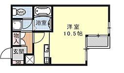 第47長栄フォルム御幸町[206号室号室]の間取り