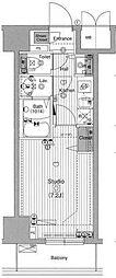 東京メトロ銀座線 銀座駅 徒歩8分の賃貸マンション 12階1Kの間取り