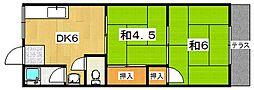 コーポ中野[102号室]の間取り