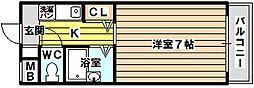 第15東昌ハイツ[4階]の間取り