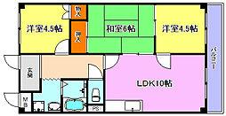 ハイツ福田[1階]の間取り