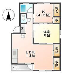 清和ビル[4階]の間取り