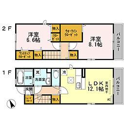 アザレアYガーデン Droom 11a[2階]の間取り