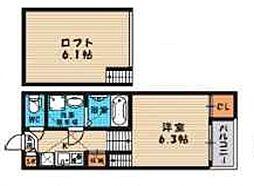 (仮称)旭区今市一丁目・SKHコーポA棟[201号室号室]の間取り