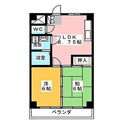 クインシティHISHINO[6階]の間取り
