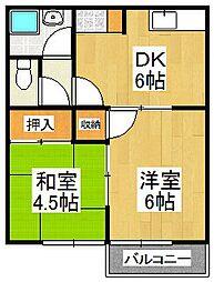 古川アパート[2階]の間取り