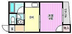 ハイツタカハシ[3階]の間取り