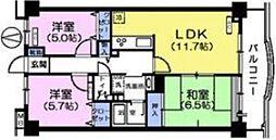 プラザサンタナカ5号館[1階]の間取り