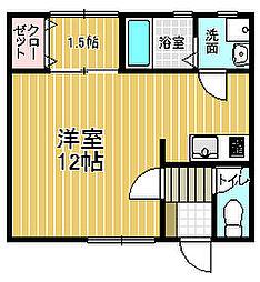藤原マンション[303号室]の間取り