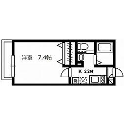 東京都八王子市日吉町の賃貸アパートの間取り