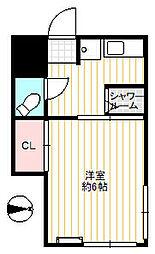 織戸ハイツ[2階]の間取り