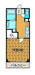 デュオ・コーポ[2階]の間取り