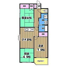 レジデンス山崎[2階]の間取り