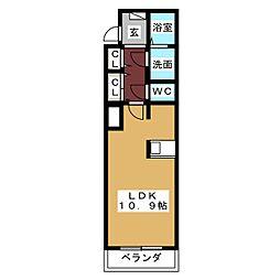 ルミナス大幸[4階]の間取り