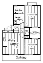 グランパルク[2階]の間取り