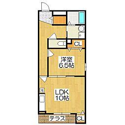 向島西堤町アパート[1階]の間取り