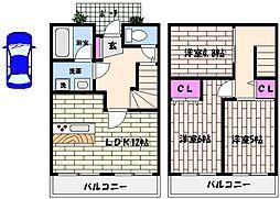 [テラスハウス] 兵庫県神戸市東灘区御影山手3丁目 の賃貸【/】の間取り