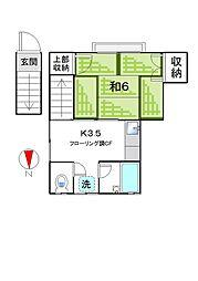 福永アパート[2階号室]の間取り