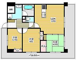 フェニックス堺東[11階]の間取り