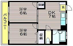 荒井第一マンション[405号室]の間取り
