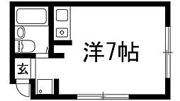 小花マンション[4階]の間取り