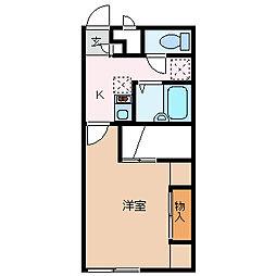 レオパレスグローリー[1階]の間取り