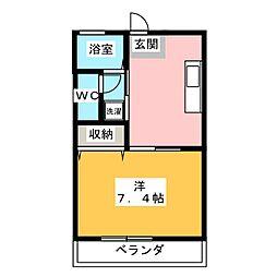 サンライトハイム10−B[2階]の間取り