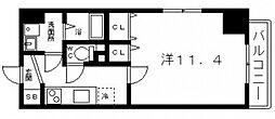 プレミアパリエ四天王寺[7階]の間取り