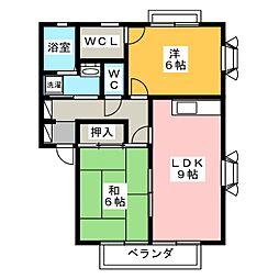 パインフォレストA[2階]の間取り