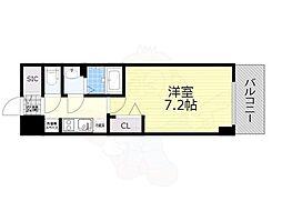 名古屋市営名城線 東別院駅 徒歩4分の賃貸マンション 12階1Kの間取り