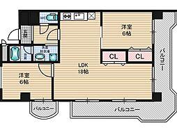 第1浦濱ビレッジ[2階]の間取り