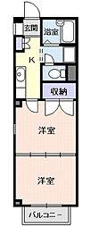 クレセントKAZU[2階]の間取り