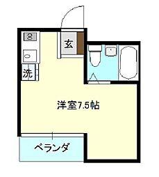 神奈川県横浜市金沢区六浦東1丁目の賃貸マンションの間取り