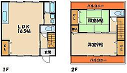 [タウンハウス] 兵庫県明石市東朝霧丘 の賃貸【/】の間取り