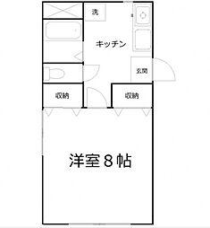 ロイヤル小竹[1階]の間取り