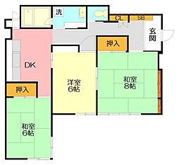 [一戸建] 神奈川県鎌倉市今泉台5丁目 の賃貸【/】の間取り