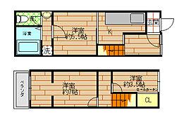 [一戸建] 大阪府大阪市都島区内代町2丁目 の賃貸【/】の間取り