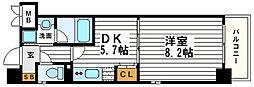 アーバンステージ安堂寺1[7階]の間取り