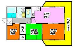 パラツィーナ小阪 1002号室[10階]の間取り