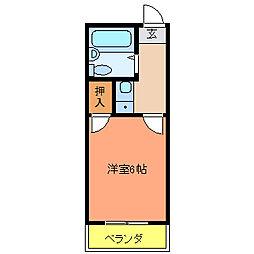 冨士マンション[203号室]の間取り